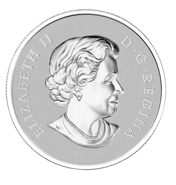 2012 $10 FINE SILVER COIN - MAPLE LEAF FOREVER