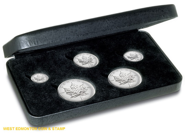 2004 FINE SILVER FRACTIONAL SET - MAPLE LEAF PRIVY MARK