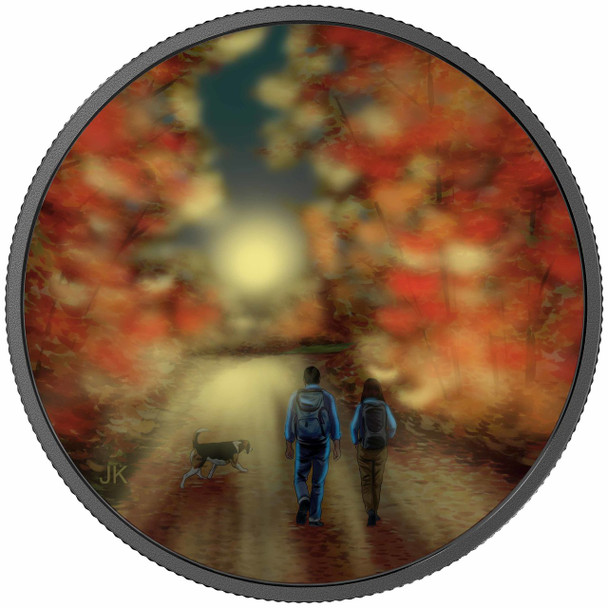 2017 $15 FINE SILVER COIN GREAT CANADIAN OUTDOORS: NATURE WALK AT SUNRISE