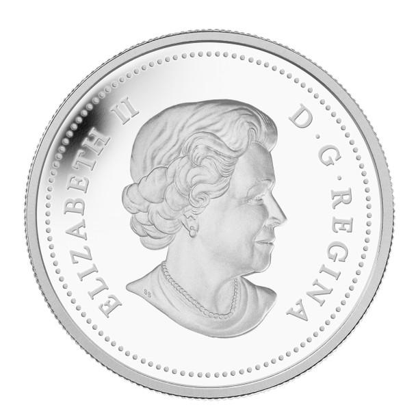 2013 $20 FINE SILVER COIN - CANDY CANE - VENETIAN GLASS