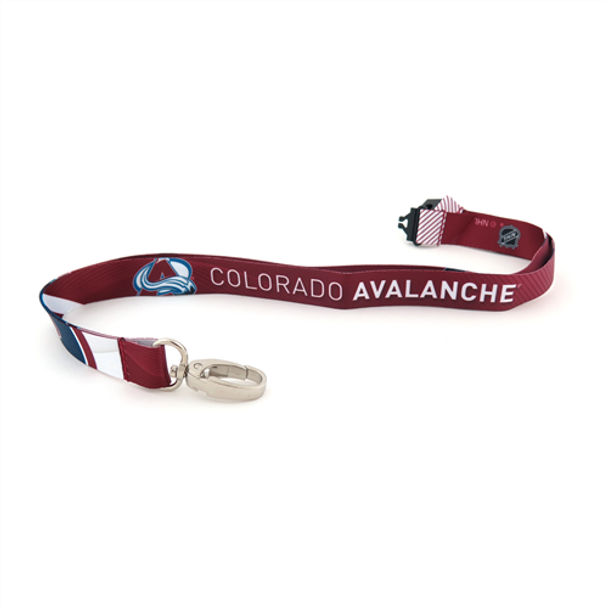 COLORADO AVALANCHE NHL HOCKEY LANYARD - SUBLAMINATE KEY HOLDER - NEW WITH TAGS
