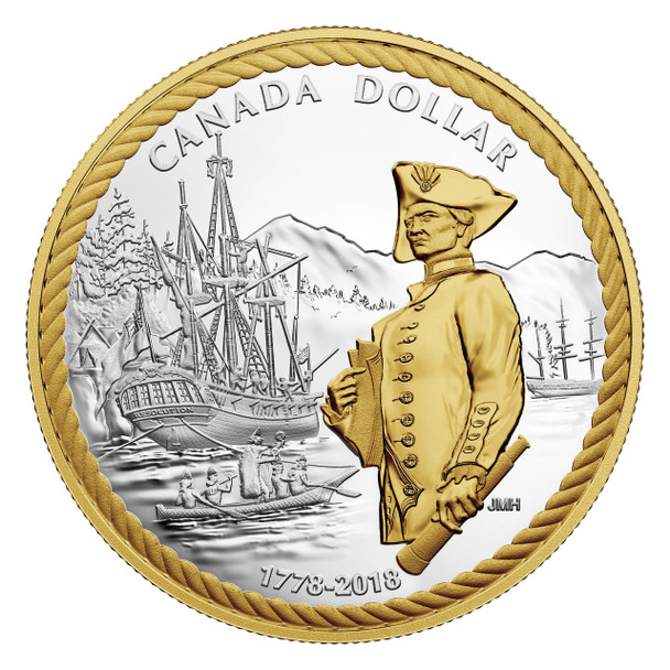 2018 FINE SILVER PROOF SET 240TH ANNIVERSARY OF CAPTAIN COOK AT NOOTKA SOUND