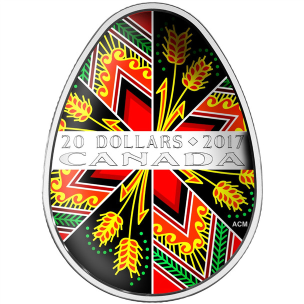 2017 $20 FINE SILVER COIN TRADITIONAL PYSANKA