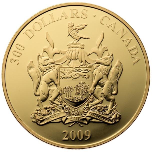 2009 $300 14-KARAT GOLD COIN - PROVINCIAL COAT OF ARMS: PRINCE EDWARD ISLAND