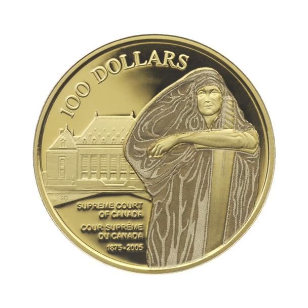2005 $100 GOLD COIN - SUPREME COURT OF CANADA