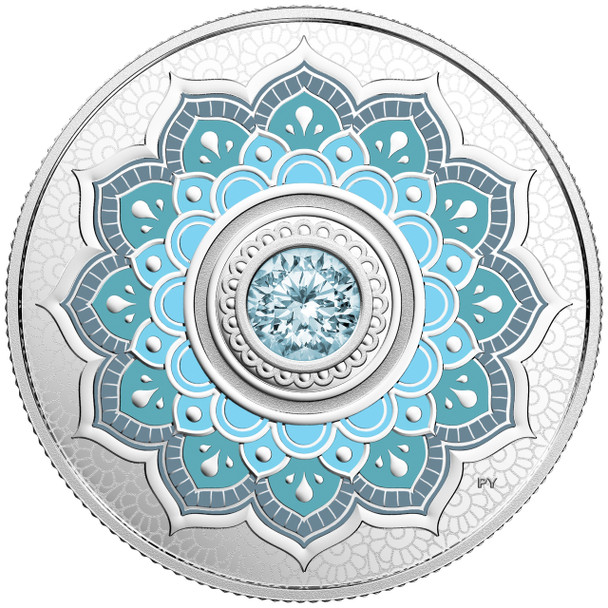 2018 $5 FINE SILVER COIN BIRTHSTONES: MARCH