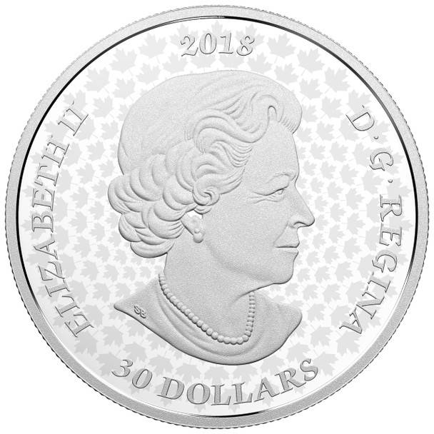 2018 $30 FINE SILVER COIN – THE QUEEN'S GATE: FORMAL ENTRANCE TO PARLIAMENT HILL