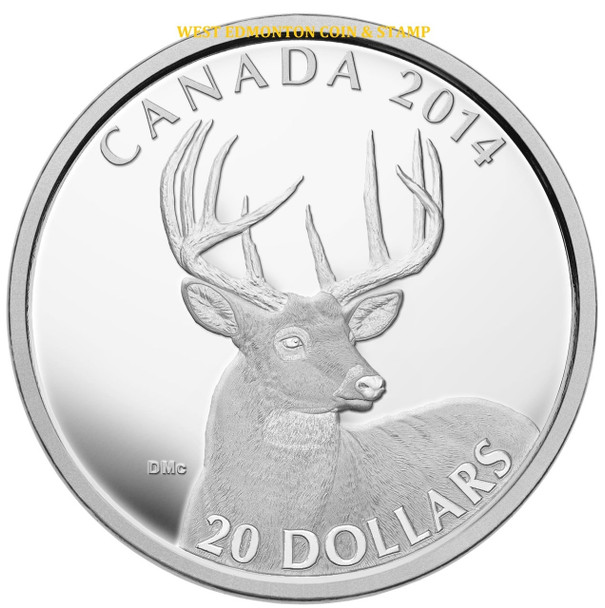 2014 WHITE TAILED DEER 4-COIN SET (4 X 1OZ. $20 FINE SILVER COINS)