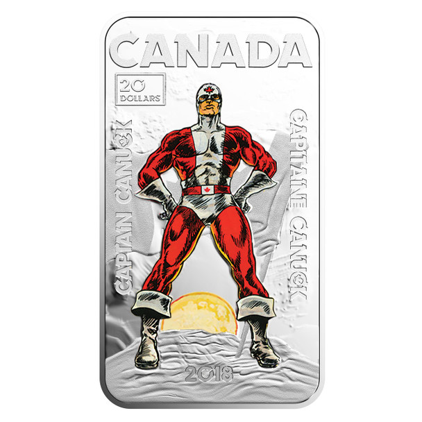 2018 $20 FINE SILVER COIN – CAPTAIN CANUCK