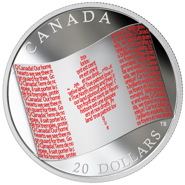 2018 $20 FINE SILVER COIN CANADIAN FLAG