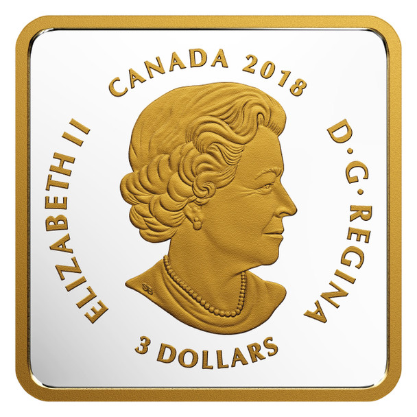 2018 $3 FINE SILVER COIN -CANADIAN COASTS PACIFIC SUNSET