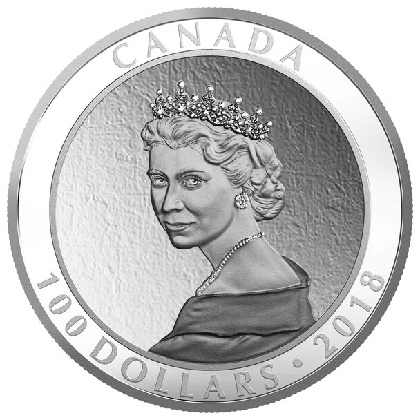 2018 $100 FINE SILVER COIN PORTRAIT OF A PRINCESS