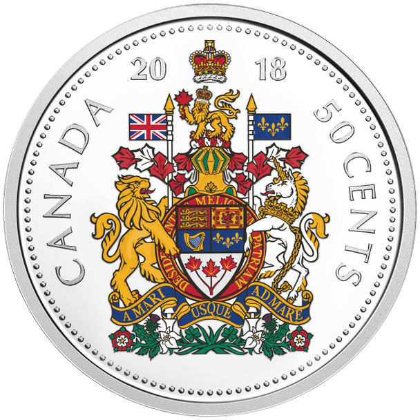 2018 FINE SILVER COLOURISED COIN SET CLASSIC CANADIAN COINS