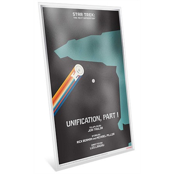 """Star Trek: The Next Generation - """"Unification, Pt. I"""" - 5g Silver Coin Note"""