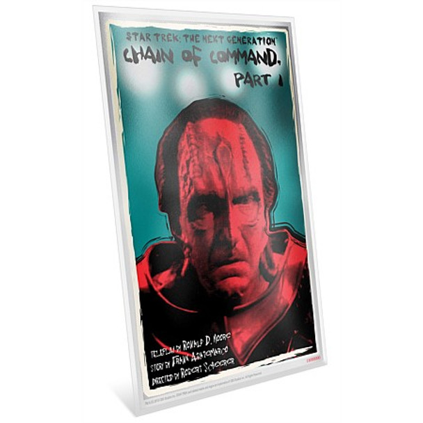 """Star Trek: The Next Generation - """"Chain of Command, Pt. I"""" - 5g Silver Coin Note"""