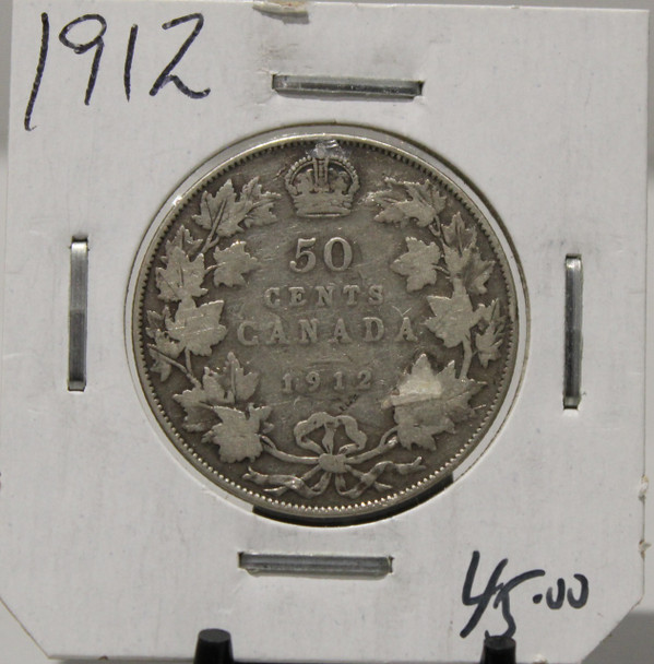 1912 CIRCULATION 50-CENT COIN - UNGRADED - AS PICTURED