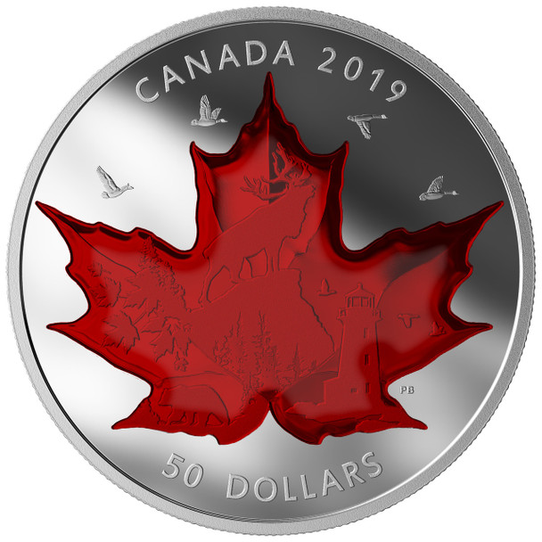 2019 $50 FINE SILVER COIN CELEBRATING CANADA'S ICONS