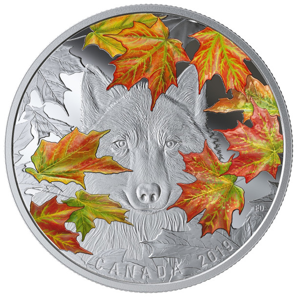 2019 $30 FINE SILVER COIN THE WILY WOLF
