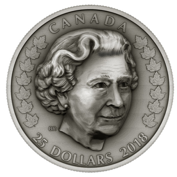 2018 $25 FINE SILVER COIN HER MAJESTY QUEEN ELIZABETH II: MATRIARCH OF THE ROYAL FAMILY