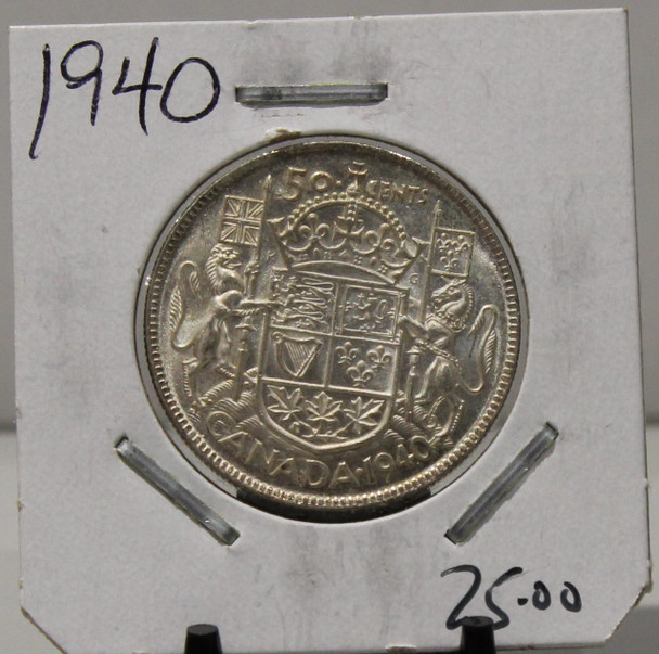 1940 CIRCULATION 50 - CENT COIN - UNGRADED - AS PICTURED