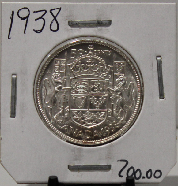 1938 CIRCULATION 50 - CENT COIN - UNGRADED - AS PICTURED