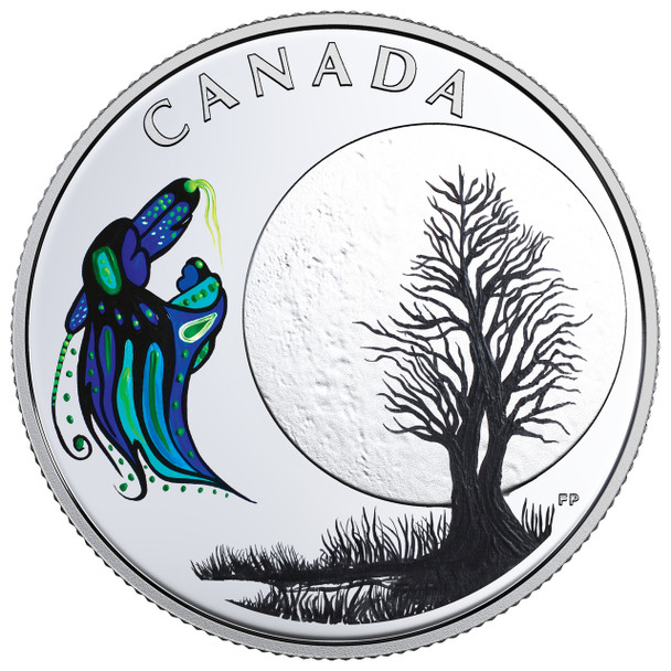 2018 $3 FINE SILVER COIN – THE THIRTEEN TEACHINGS FROM GRANDMOTHER MOON: BIG SPIRIT MOON
