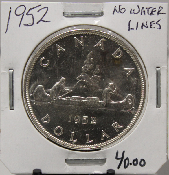 1952 CIRCULATION SILVER DOLLAR  - NO WATER LINES - UNGRADED - AS PICTURED