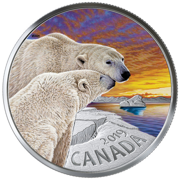 2019 $20 FINE SILVER COIN CANADIAN FAUNA: THE POLAR BEAR