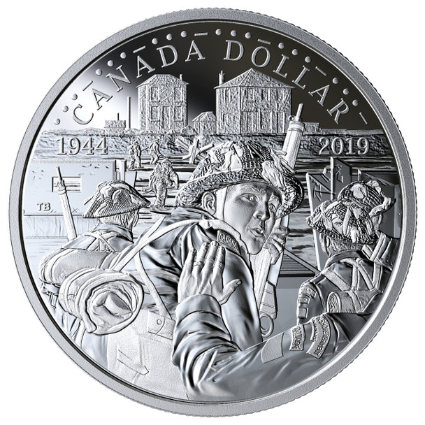 2019 PROOF SILVER DOLLAR 75TH ANNIVERSARY OF D-DAY