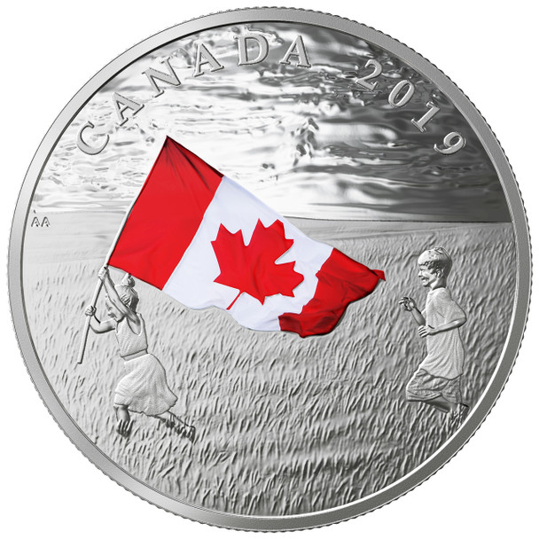 2019 $20 FINE SILVER COIN THE CANADIAN FLAG