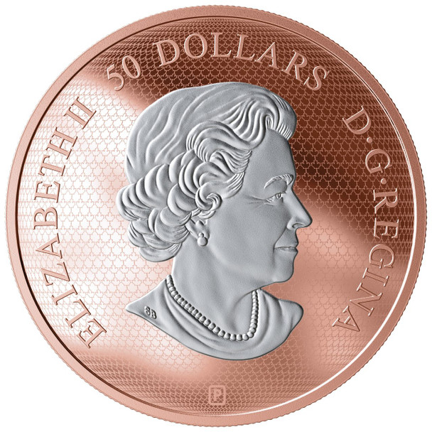 2019 $50 FINE SILVER COIN MAPLE LEAF IN MOTION