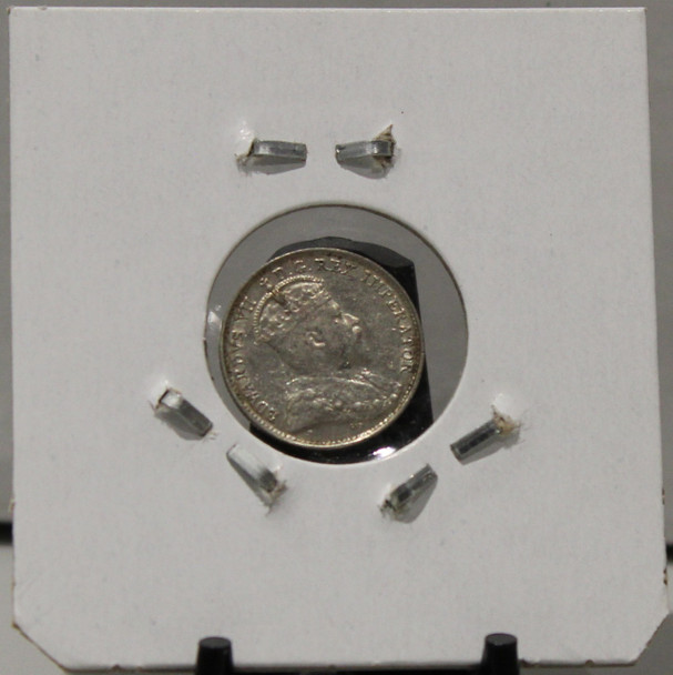 1908 5-CENT SILVER - CROSS/BOWTIE - UNGRADED - AS PICTURED
