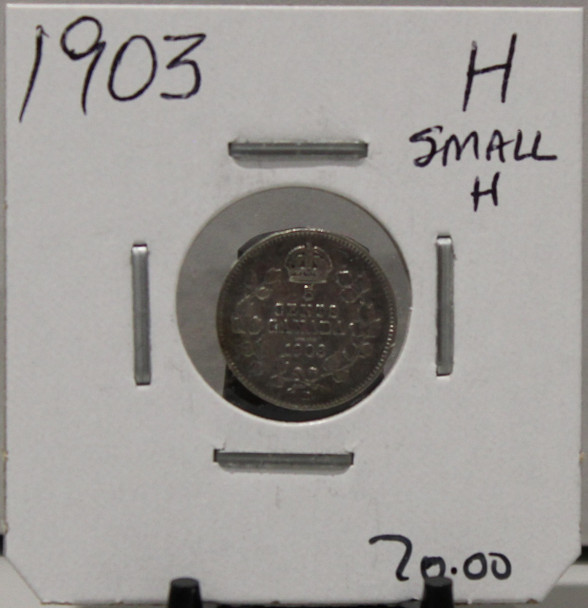 1903 5-CENT SILVER - H - SMALL H - UNGRADED - AS PICTURED