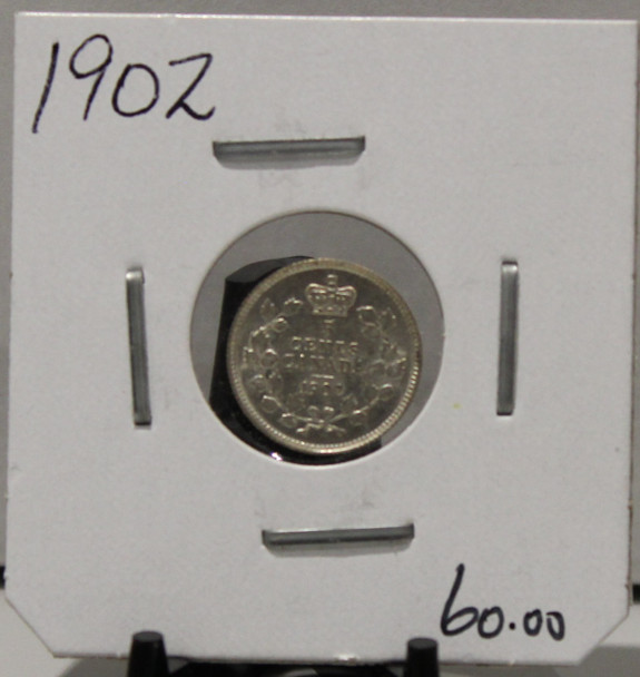 1902 5- CENT SILVER - UNGRADED - AS PICTURED