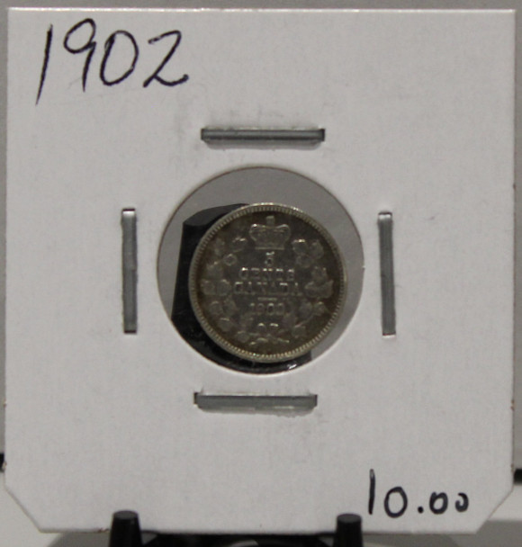 1902 5-CENT SILVER - UNGRADED - AS PICTURED