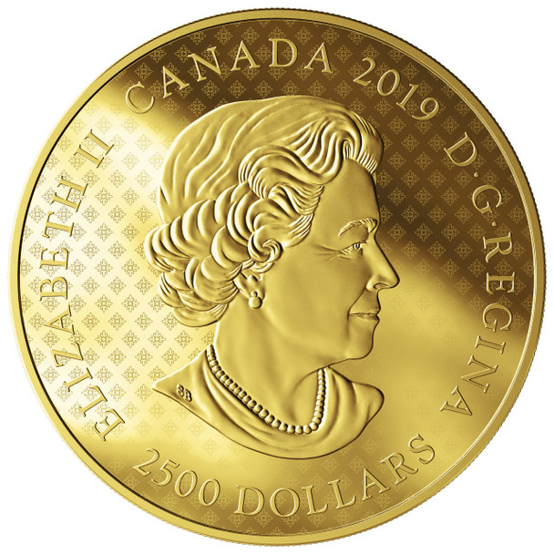 2019 $2,500 PURE GOLD COIN GREAT SEAL OF THE PROVINCE OF CANADA (1841-1867)