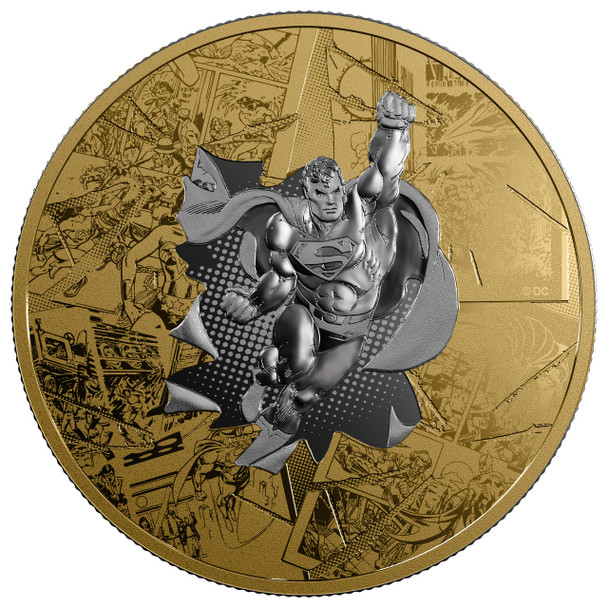 SALE - 2017 $50 FINE SILVER COIN DC COMICS ORIGINALS: THE BRAVE AND THE BOLD