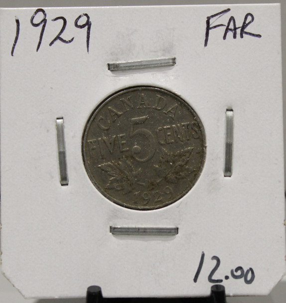 1929 CANADIAN FIVE-CENT - FAR - UNGRADED - AS PICTURED