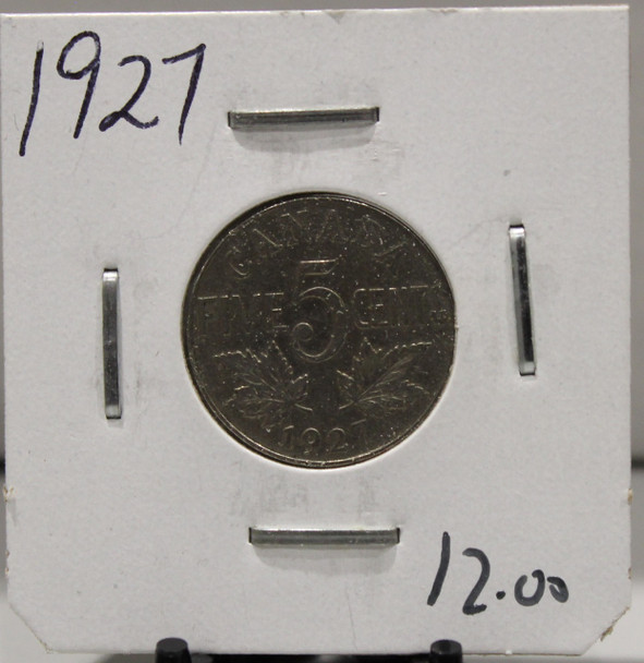 1927 CANADIAN FIVE-CENT - UNGRADED - AS PICTURED