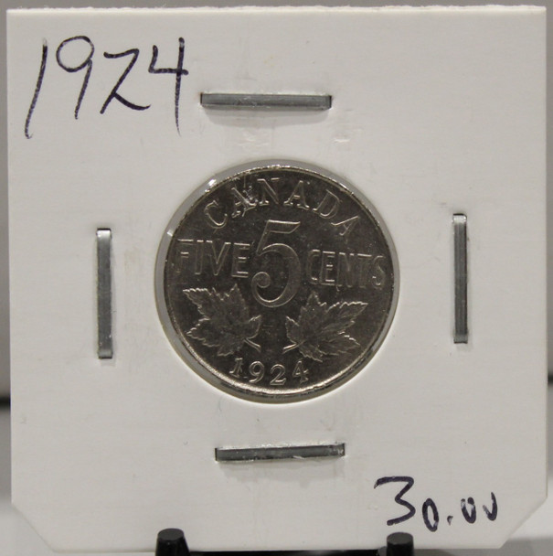 1924 CANADIAN FIVE-CENT - UNGRADED - AS PICTURED