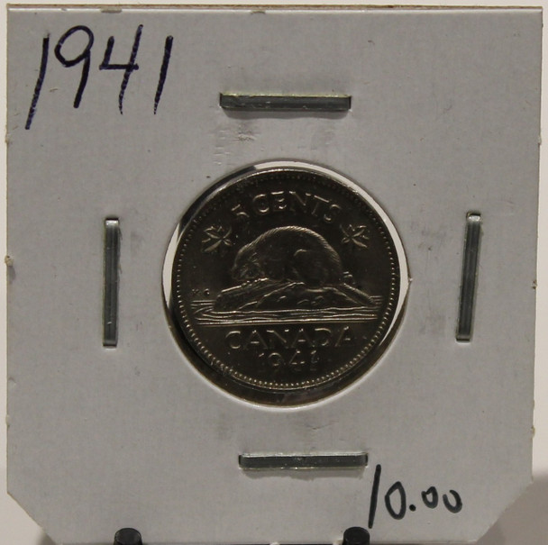 1941 CANADIAN FIVE-CENT - UNGRADED - AS PICTURED