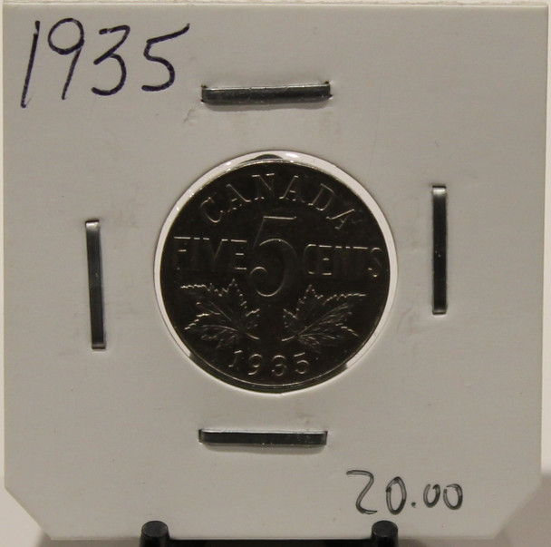 1935 CANADIAN FIVE-CENT - UNGRADED - AS PICTURED