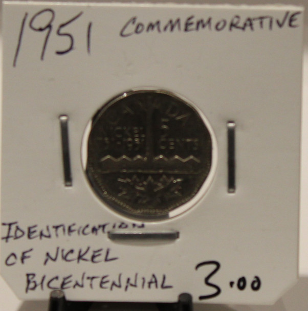 1951 CANADIAN FIVE-CENT - COMMEMORATIVE - UNGRADED - AS PICTURED
