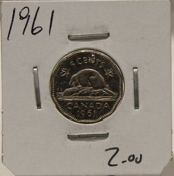 1961 CANADIAN FIVE-CENT - UNGRADED - AS PICTURED