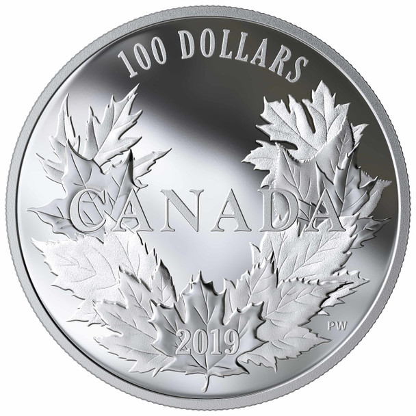 2019 $100 FINE SILVER COIN CANADIAN MAPLES
