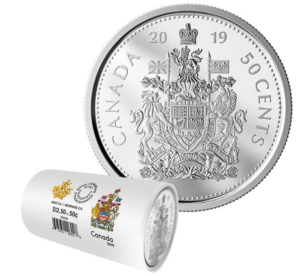 2019 CIRCULATION COIN ROLL - 50 CENTS