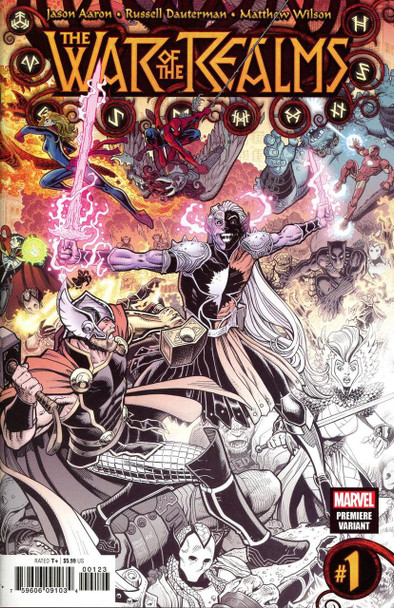 MARVEL WAR OF THE REALMS #1 COVER Z ARTHUR ADAMS PREMIERE VARIANT COVER