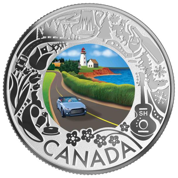 2019 $3 FINE SILVER COIN CELEBRATING CANADIAN FUN AND FESTIVITIES – COASTAL DRIVE
