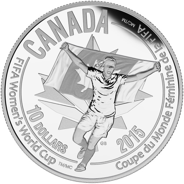 SALE - 2015 $10 FINE SILVER COIN FIFA WOMEN'S WORLD CUP™ : CELEBRATION