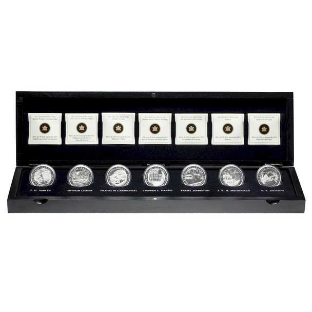 SALE - 2012-2013 $20 FINE SILVER 7-COIN SET - THE GROUP OF SEVEN